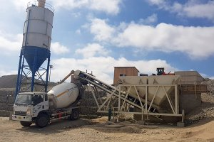HZM35 Dry Type Concrete Dosing Plant in Peru